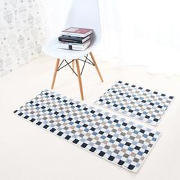 Wholesale Blue Bedroom Area Rug - Polyester Toilet Mat Anti-slip Bedroom Area Rug Printed Coffee Table Carpet