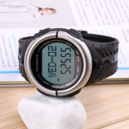 Wholesale Cheap Digital Counters - New Digital 3D Pedometer Calories Counter Pulsometer Heart Rate Monitor LED Sport Watch Cheap led samurai watch
