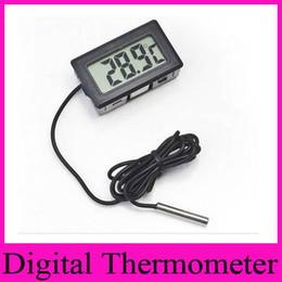 2019 commercio all'ingrosso termometro del serbatoio della pesca Professinal Mini Digital LCD Sonda Acquario Frigorifero Termostato Termometro Temperatura per Frigorifero -50 ~ 110 gradi FY-10