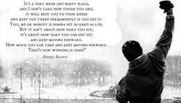 Wholesale Canvas Motivational Quotes - ROCKY BALBOA - Motivational Quotes Art Silk Fabric Poster Print 20X35 inches Movie Pictures