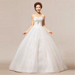 Wholesale Korean Tulle Shirt - Factory direct wholesale 2016 new bride Suzhou wedding Tube Bra Korean wedding dress on behalf of a generation XS01