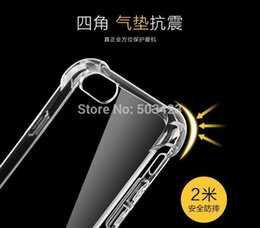 Wholesale Iphone Gel Skin - Four Angle Transparent Clear Soft Covers Silicon Gel TPU Skin Case Silicon Cover For iphone 7 Plus 5 5s 6 6s Plus Cases