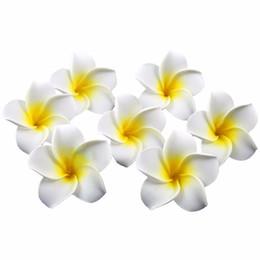 Wholesale Diy Hawaii -  1Lot=100pcs 8CM Artificial Hawaii PE Plumeria flower   Frangipani foam Flower For headwear wedding decoration DIY Craft