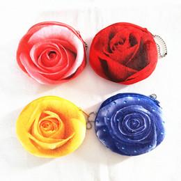 Wholesale Plush Red Rose Bag - Wholesale- M100 Cartoon Cute Beautiful Rose Wallet Girl Cute Plush Cloth Small Wallet Bank Bus Card Bag Women Student Gift Wholesale