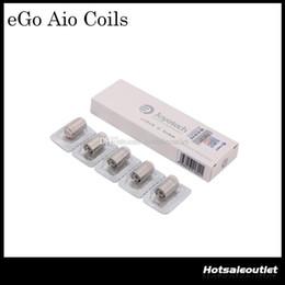 Wholesale Ego Original Joyetech - Authentic Joyetech eGo AIO Coil Head 0.6ohm Joyetech SS316 0.6ohm Coil 15-28W fit for eGO AIO Kit BF SS316 Coils 100% Original