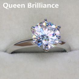 Wholesale Nscd Diamond Wedding Sets - Simple Elegant 3 Carat Solitare NSCD Simulated Diamond Engagement Ring For Women 17903