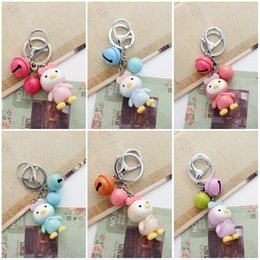 Wholesale Beautiful Girl Photos - Beautiful Princess Chick Bell Charms Metal Keychain Cute Lovers Jewelry Women Key Chains Holder Bag Pendant Free DHL D276L