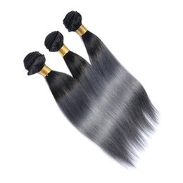bulk hair dye Promo Codes - Virgin Brazilian Hair Ombre Human Hair Bundles Weaves Two Tone Wefts Peruvian Indian Malaysian Mongolian Bulk Hair Extensions