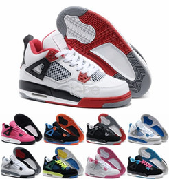 Wholesale Eva Balls - Newest Hot Sale Basketball Shoes Retro 4s Sports Sneakers Women Zapatillas Authentic Real Replicas Basket Ball Top Quality 4 Size41-47