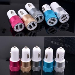 Wholesale Amp Output - Metal Dual USB Port Car Charger Universal 12 Volt   1 ~ 2 Amp for Apple iPhone iPad iPod   Samsung Galaxy   Motorola Droid Nokia Htc DHL