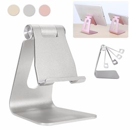 Wholesale Desk Mounted Ipad Stand - Luxury Adjustable Aluminum Desk Stand Holder Anti-skid Mount Universal Portable For iPad Mini For Phone 7 6s 6plus 8Tablet