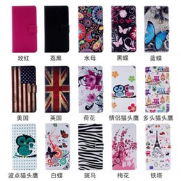 Wholesale Zebra Skin Wholesale - Flower Butterfly Wallet Leather For Sony Xperia XZ, X Compact UK USA Flag Eiffel Tower Owl Zebra Leechee Flip Cover Slot Case Skins PU Pouch