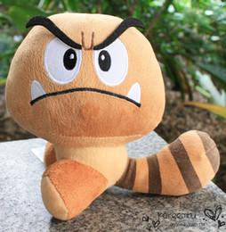 "Wholesale Tanuki Doll - EMS 60PCS  Lot 7""18cm Super Mario Bros Tanuki Goomba Plush Toys Doll With Tag Brithday Gift Free Shipping"