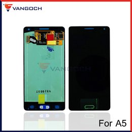 Wholesale Galaxy S4 Display Blue - For Samsung Galaxy A5 A500 A5000 LCD Display Touch Screen Digitizer Assembly Replacement Repair Blue & White & Gold