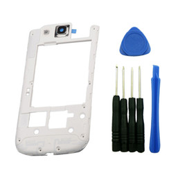 Wholesale Galaxy S3 Back Frame - Back Middle Housing Frame For Samsung Galaxy S3 i9300 i9305 vs i747 i535 L710 middle frame Bezel Plate replacement white color 10pcs lot