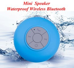 Wholesale Car Bass - Bluetooth Mini Speaker Waterproof Speaker Wireless Shower Handsfree Mic Suction Car Speaker Portable mini MP3 Super Bass fit iphone android