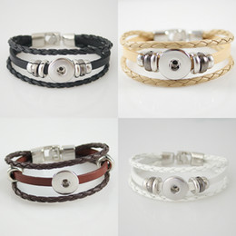 Wholesale Clasp Types - Best Sellers High Quality Newest type Real Leather Snaps Bracelets Most Popular Fit 20mm snap button From Partnerbeads KB0829