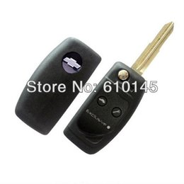 Wholesale Two Button Remote Car Shell - Door Hardware Locks Locks Lova car fan-shaped remote folding shell key two buttons with brass blade