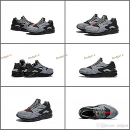 Wholesale Designer Summer Boots - 2017 Air Huarache Run Tech Fleece Shoes Women And Mens Huaraches Sneakers Famous Brand Custom Designer Sports Shoes Running Shoes Size 36-45