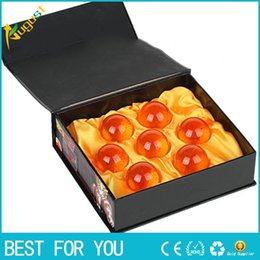 Wholesale Gift Box Animation - New hot Animation DragonBall 4.3cm 7 Stars Crystal Ball New In Box Dragon Ball Complete Set Toys 7pcs set Best Gift For Children DHL Free
