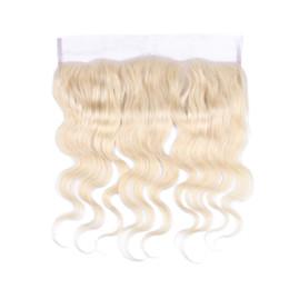 Grade 9A brésilien 613 dentelle blonde fermeture frontale 13x4 avec des poils de bébé 8-24