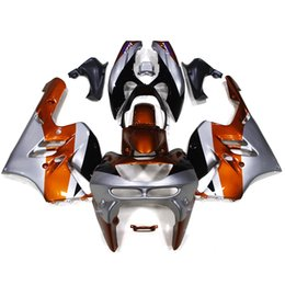 Wholesale Ninja Kawasaki Fairings Zx9r 1994 - Orange Silver Fairings For Kawasaki ZX9R 94 95 96 97 ZX-9R 1994 1995 1996 1997 ABS Plastics Motorcycle Fairing Kits Bodywork ZX9R Cowling