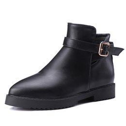 Wholesale Favorite Boots - The new winter pointed boots buckles Europe and the United States and Russia's favorite Short boots Exempt postage