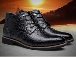 Wholesale Look Man Winter Fashion - Men's Brand New Lace Up Designer Ankle Boots, Genuine Cow Leather Snow Boots Luxury Fashion Looking