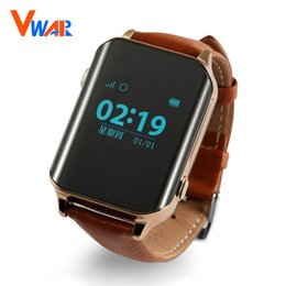 Wholesale gps locate - Wholesale- Vwar D100 SmartWatch GPS Tracker Smart GPS Watch Locator For Elder locating Heart Rate Monitor Wristwatch Support SIM Card A16