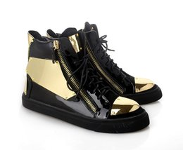 Wholesale European Size 46 - European new style metal decoration Genuine leather man or woman Sneakers big size Couples leisure shoes 36-46
