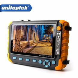 Wholesale hdmi input inch - 4 IN 1 CCTV Tester 5 Inch LCD 1080P HDMI VGA Input AHD TVI CVI Camera Tester Monitor Audio Input Test DC 12V
