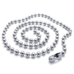 Wholesale indian beads jewellery - 2.4MM Stainless Steel Chains Necklaces Jewelry Silver Plated Chains 925 Silver Beads Necklace Fashion Jewellery