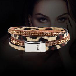 Wholesale Leather Bracelets Heart Wings - New Arrive Jewelry Bohemia Handmade Bracelets Leopard  Serpentine Sexy Wing Pendants Decoration Cuff Bracelet Snake Bangles free shipping