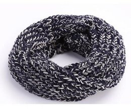 Wholesale Kids Infinity Scarves - Wholesale Unisex Children Knitted Ring Scarves Neckerchief Baby Kids Boys Girls Infinity Circle Loop Scarf for Fall Winter WJ8384