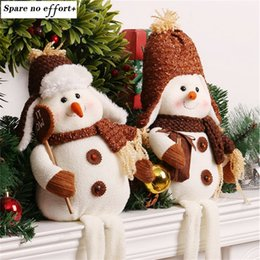 gifts for girls Australia - Enfeite De Natal Christmas Snowman Doll Toy Desktop Ornaments Best Christmas Gifts For Girls Christmas Decorations For Home