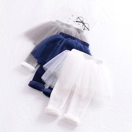 Wholesale tutu tight baby girl - INS Baby Clothes Winter Girls Pantskirt Candy Color Gauze Cotton Skirt Pants Girls Leggings Tights Baby Pants Kids Pantskirt Wholesale 174