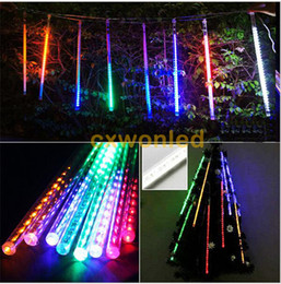 Wholesale Waterproof Led Lights For Showers - 20cm 30cm 50cm waterproof DIP LED Meteor Shower Rain Tubes LED Lighting for Party Wedding Decoration Christmas Holiday LED Meteor Light