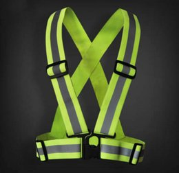 Wholesale Sports Tap - 3 pieces freeshipping Wholesale Safety Clothing Reflective 3M Fabric Material Strip Tap Band Vest Jacket Sports Outdoor Gear RS-01Thickened