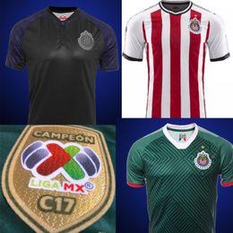 Wholesale Chivas Soccer - 17 18 MEXICO Club Chivas de Guadalajara Soccer Jersey 2018 Home Red Camiseta de Futbol thai quality A.pulido 12 Champion Football Shirts