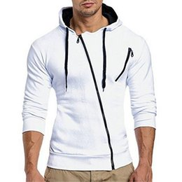Wholesale Jacket Shopping - Mens Zipper Cardigan For Hoodie Tracksuit Autumn Winter Cotton Mens Jacket Casual Fashion Mens Tracksuit Coat For White Drop Shopping