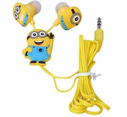 Wholesale Despicable Headphones - 2016 Xmas gift Cartoon Anime Earphone Minion despicable Me 3.5mm birds Headphones For Mobile Phone MP3 player Computer kids free shipping