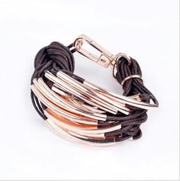 Wholesale Christmas Rope Bracelets - Free Shipping New Alloy multilayer Bracelet Fashion And Personality Style Bracelet Women Men Punk Charm Bracelet Christmas Gift