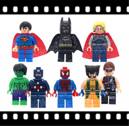 Wholesale Superheroes Figure Toys - 2017 Hot Sale Marvel Iron Man Figure Building Blocks Superhero Hulk Avengers Set Models Mini Bricks Toys