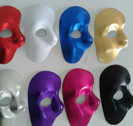 maschera di fantasmi per halloween Sconti New Mask Left Half Face Phantom of the Night Opera Maschere per donna Maschere per il ballo mascherato Maschere per il ballo in maschera Halloween rifornimenti festivi