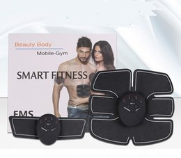 Wholesale Muscle Arms - Electric Abdominal Trainer Muscle Toner Arm Muscles Body Sculpting Exercise Lose Weight Body Beauty Smart Fitness Slimming belt Massager