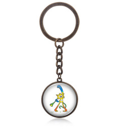 Wholesale Mascot Summer - Vinicius mascot Time gemstone pendant keychain 2016 summer hot sale Olympic Games in Rio Brazil small gifts