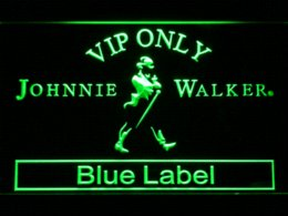 Wholesale Johnnie Neon Signs - 480 VIP Only Johnnie Walker Blue Label LED Neon Sign Cheap label deactivator High Quality label pictures
