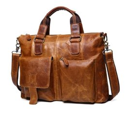Wholesale Men Leather Pa - Euro-US style,New men Handbag, Cowhide Bag ,Shoulder Bags , male Big bag,Genuine Leather fashion Hangbag, Travel bag,Retro briefcase pa N710