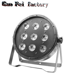 Wholesale Channel Business - 9x12w High Power Light with Professional for Party KTV Disco DJ RGBW DMX Stage Lights Business Lights Led Flat Par