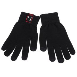 Wholesale Smart Glove For Touch Screens - Bluetooth Gloves V3.0 + EDR Talking Gloves Screen Touch Gloves for Smart Phones with LED Indicator Light and Charging Port for Android iOS